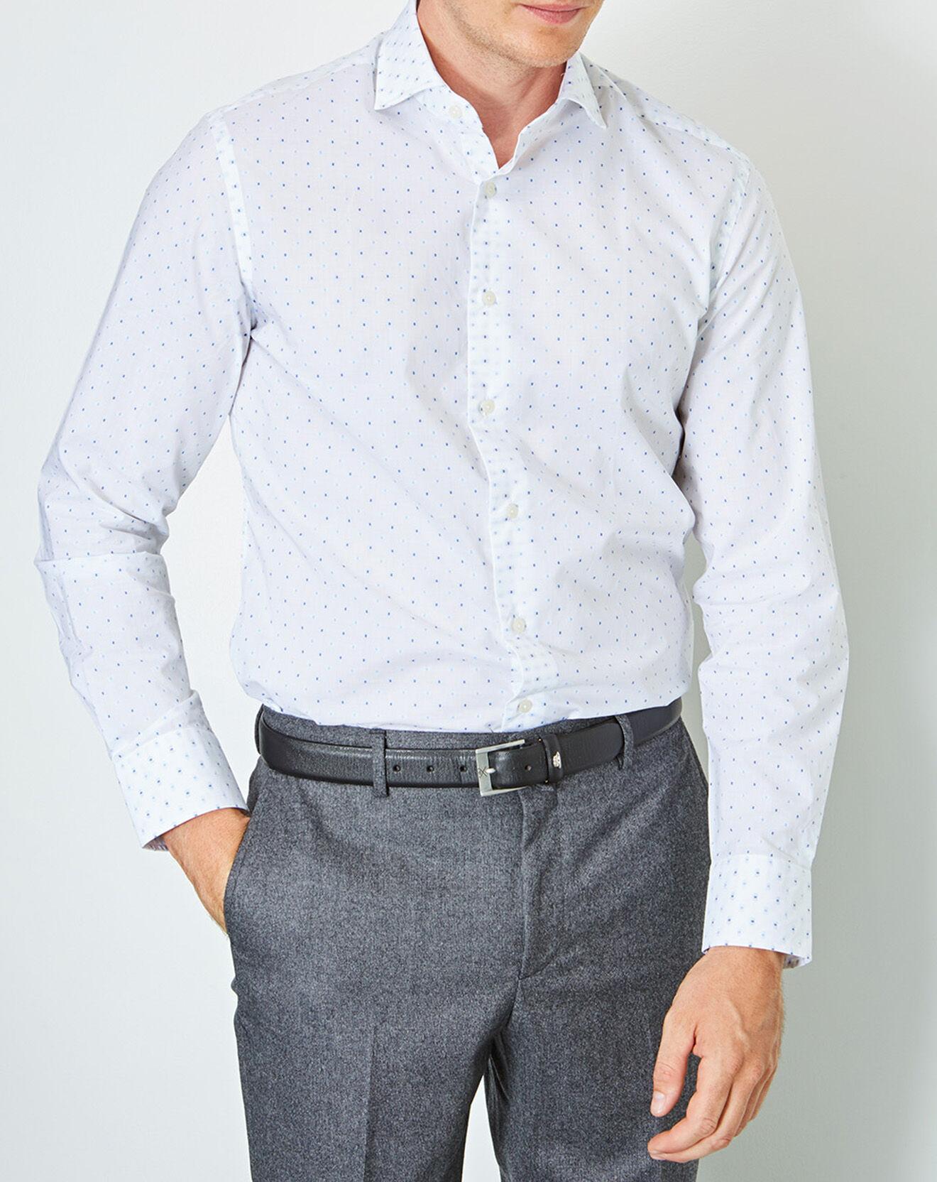 Chemise slim fit Mini Textured Square blanc - Hackett London - Modalova
