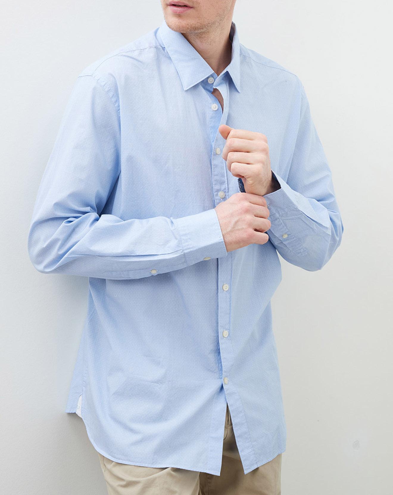 Chemise slim fit à point bleu ciel/blanc - Hackett London - Modalova