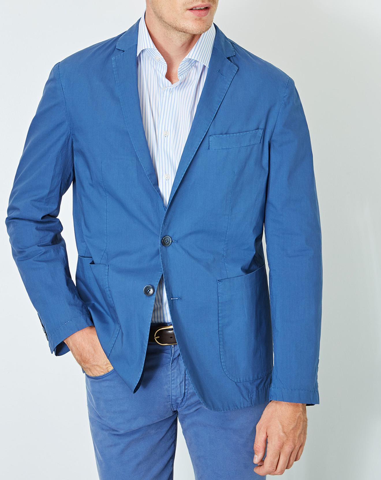 Veste Poplin Garment Wash bleu marine - Hackett London - Modalova