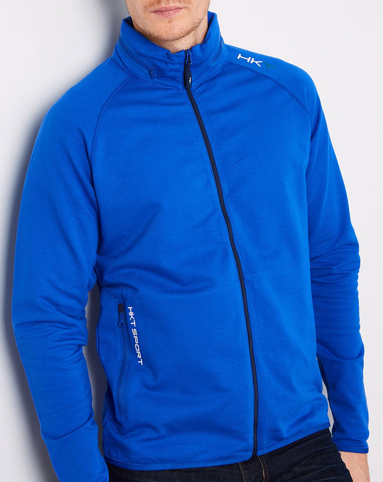 Sweat zippé HKT Sport Performance bleu - Hackett London - Modalova