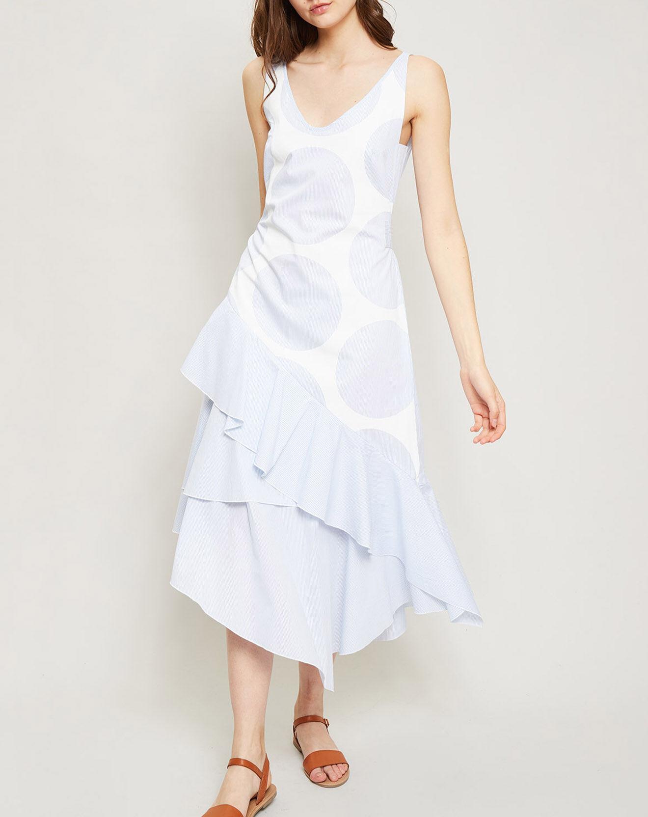 Robe Algebre asymétrique blanche - Derhy - Modalova