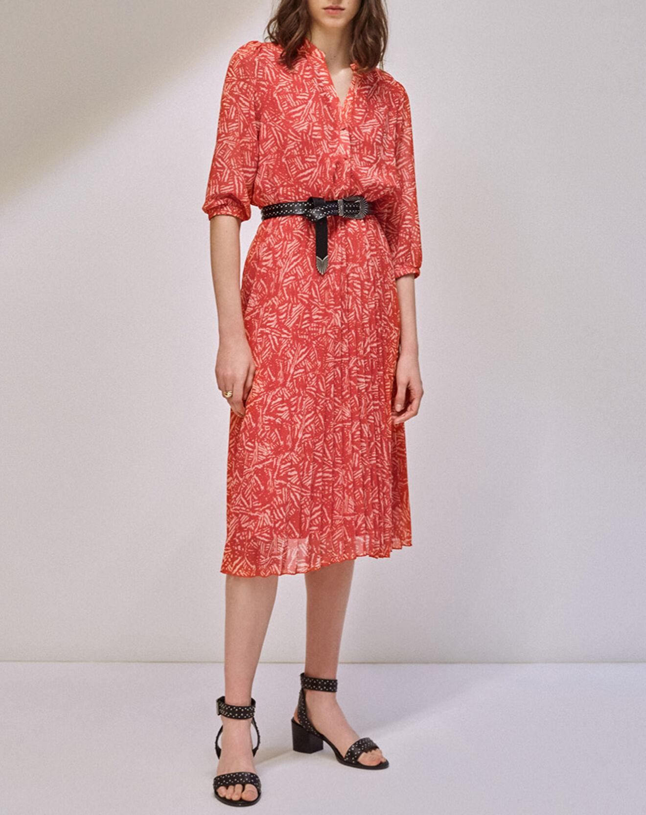 Robe Chady imprimée rouge - Suncoo - Modalova