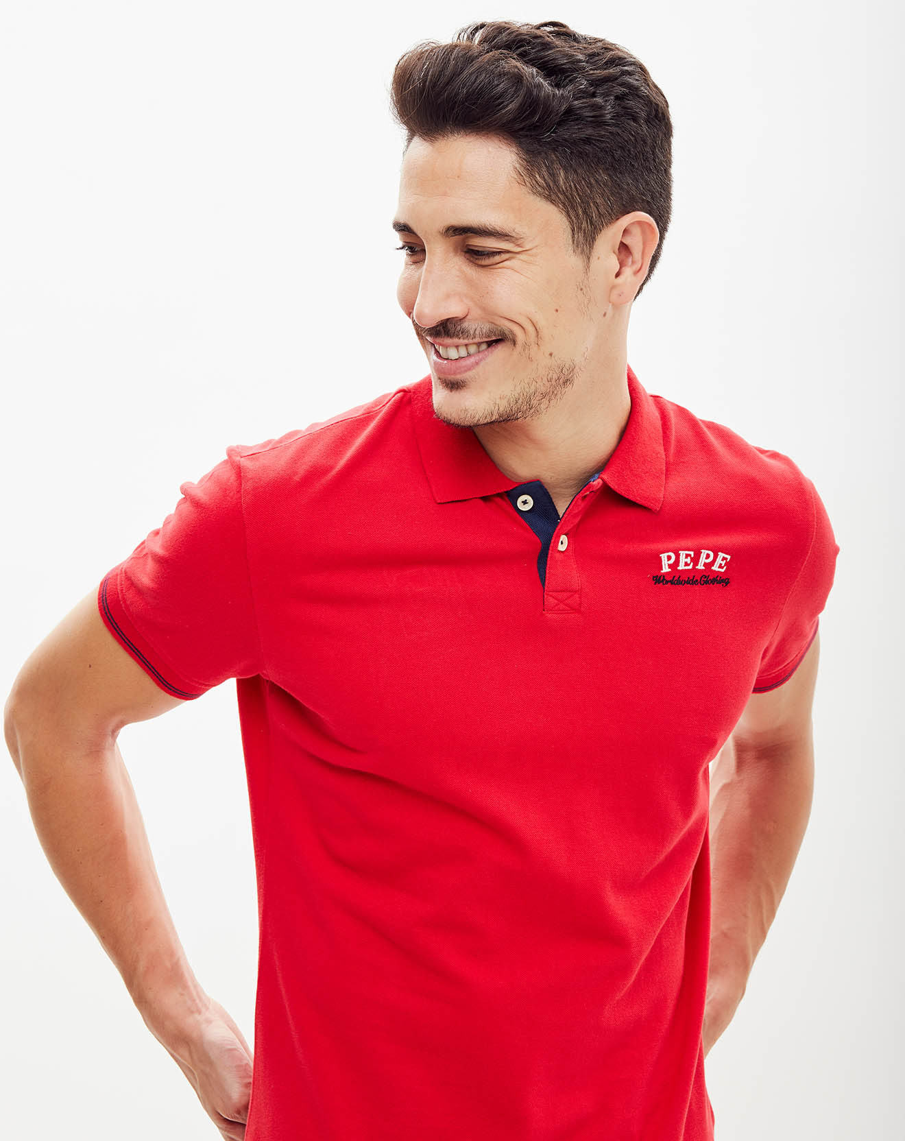 Polo Logo au dos rouge - Pepe Jeans - Modalova
