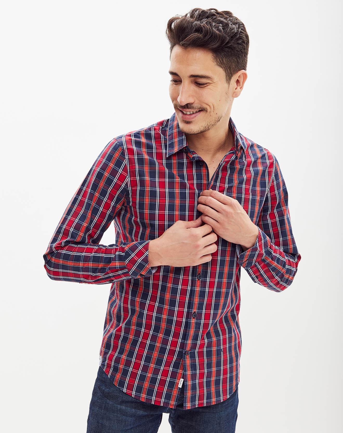 Chemise ajustée Evan à carreaux - Pepe Jeans - Modalova