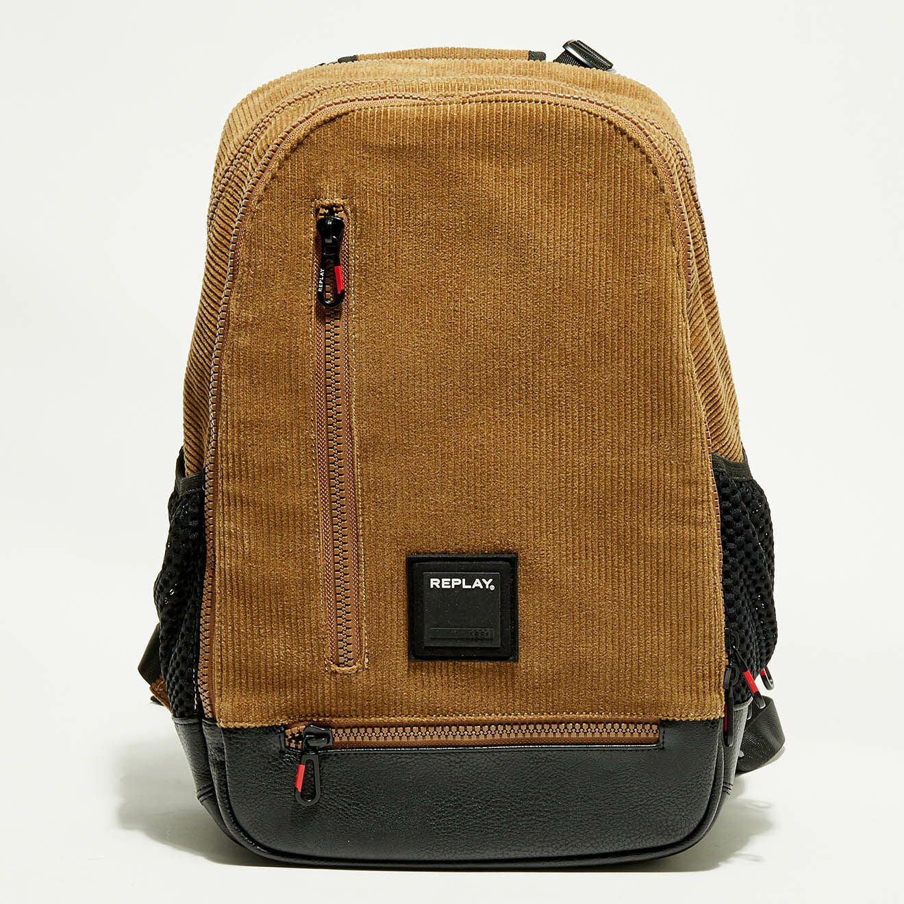 Sac à dos velours côtelés marron - 30x46x16 cm - Replay - Modalova