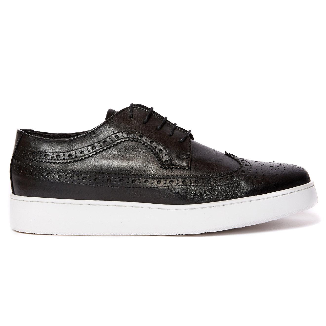Sneakers en Cuir Michel noires - Frank Daniel - Modalova