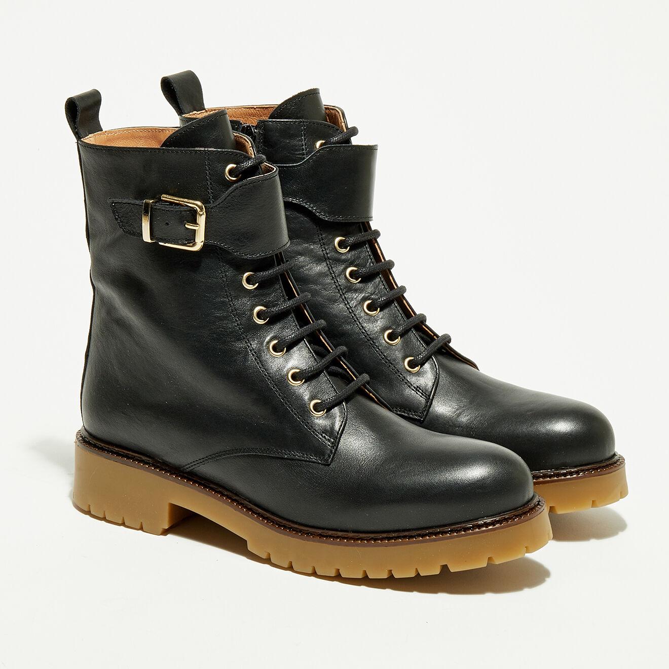 Boots en Cuir Ella noires - Apologie - Modalova