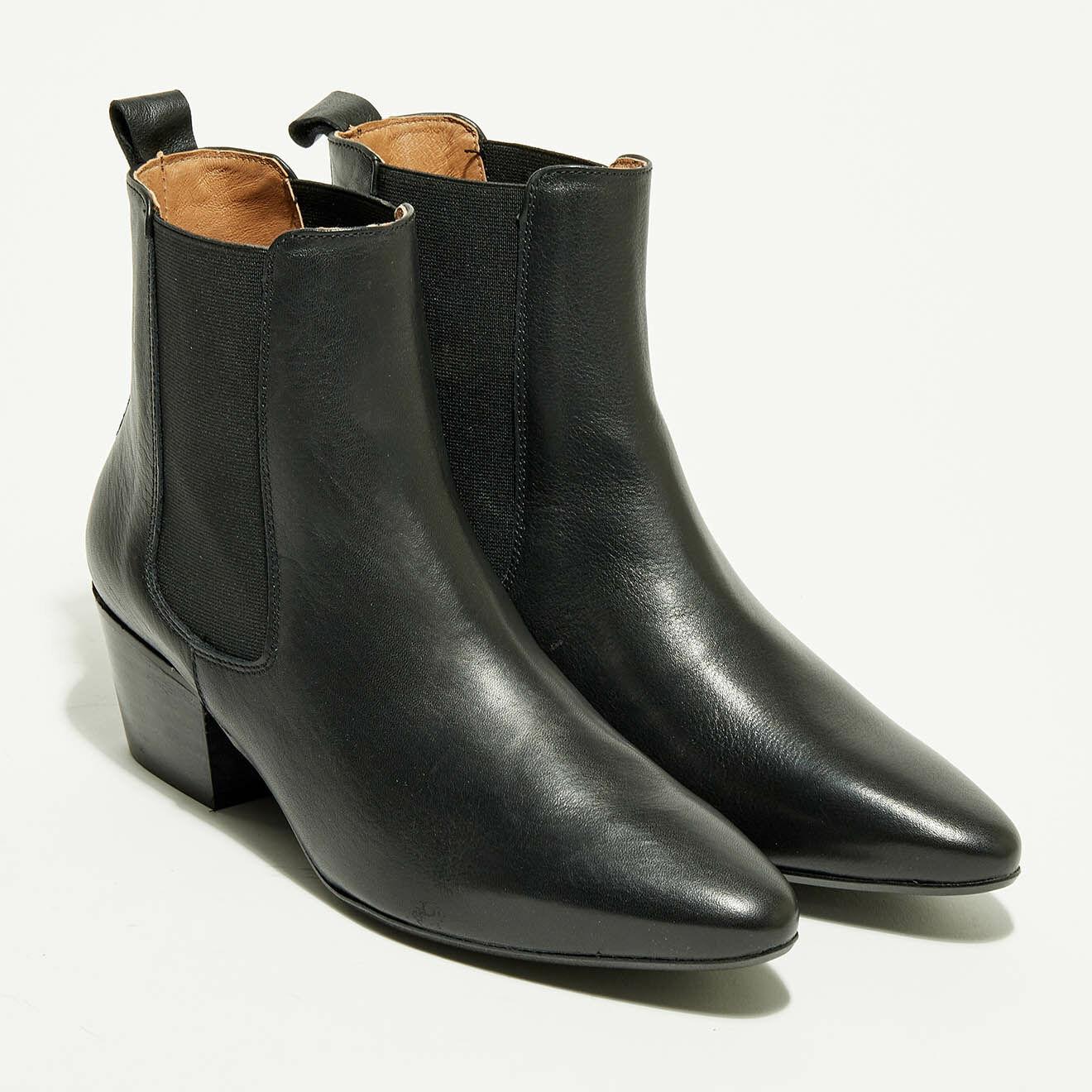 Chelsea Boots en Cuir Agathe noires - Apologie - Modalova