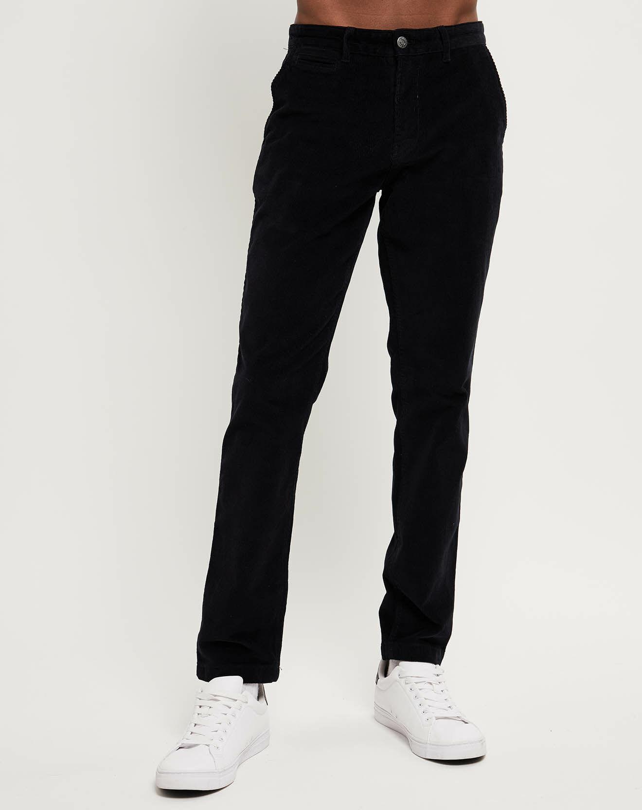 Pantalon en velours slim chino noir - Calvin Klein - Modalova