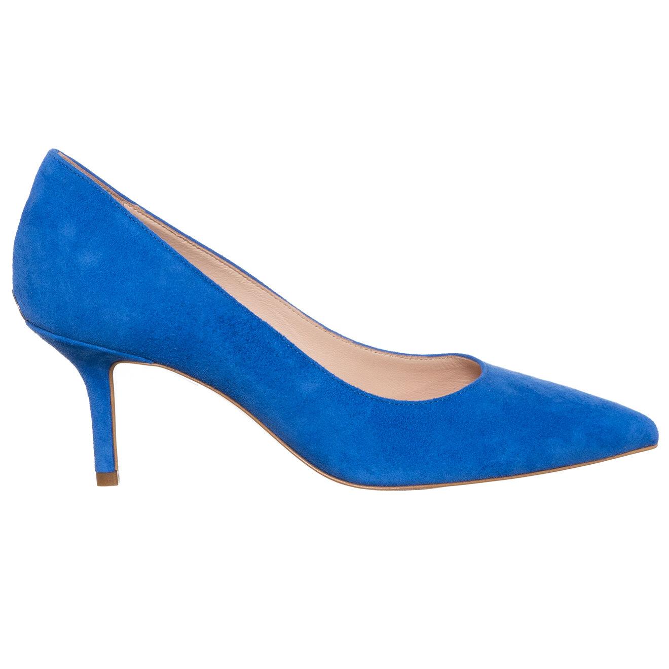Escarpins en Velours de Cuir Audrey bleus - Talon 6 cm - Liu-Jo - Modalova