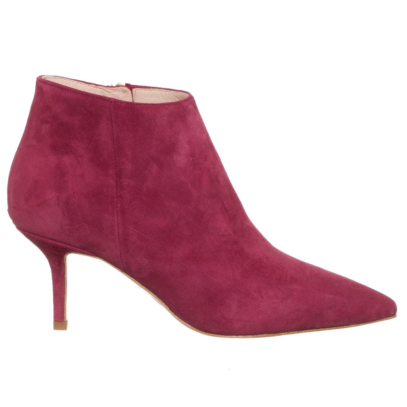 Boots en Velours de Cuir Audrey rouges - Talon 7 cm - Liu-Jo - Modalova