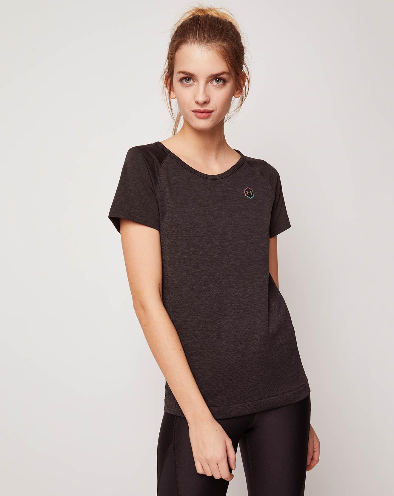 T-Shirt Rush Seamless noir - Under Armour - Modalova