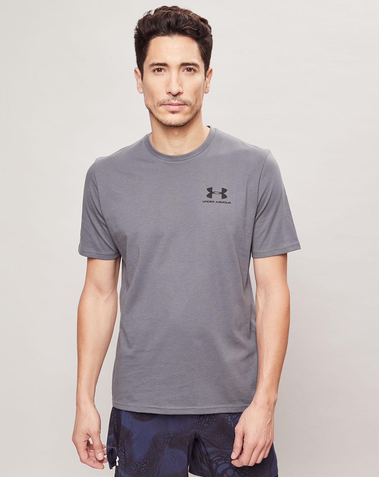 T-Shirt Sportstyle Left Chest gris - Under Armour - Modalova