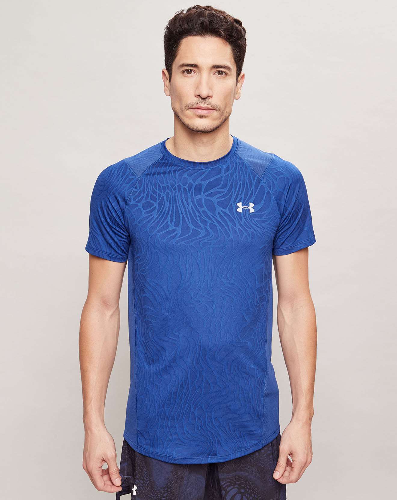 T-Shirt Mk1 Jacquard bleu - Under Armour - Modalova