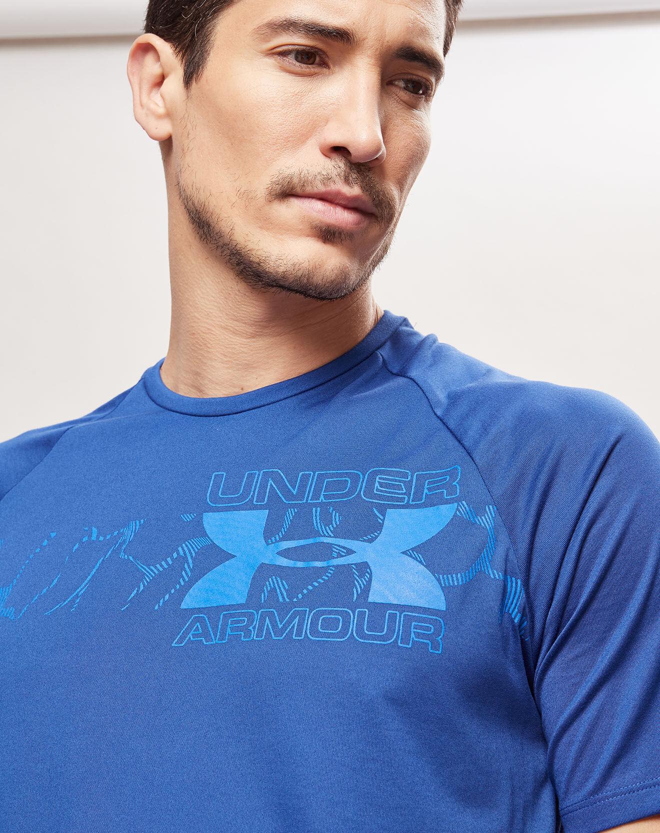 T-Shirt Tech 2.0 Graphic bleu - Under Armour - Modalova