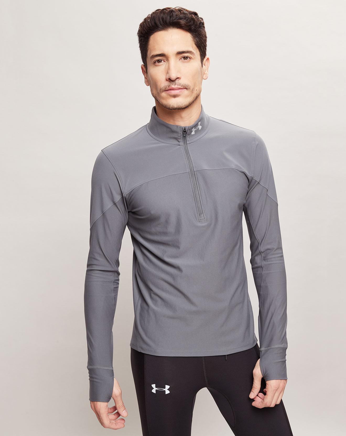 T-Shirt ½ Zip Qualifier gris - Under Armour - Modalova