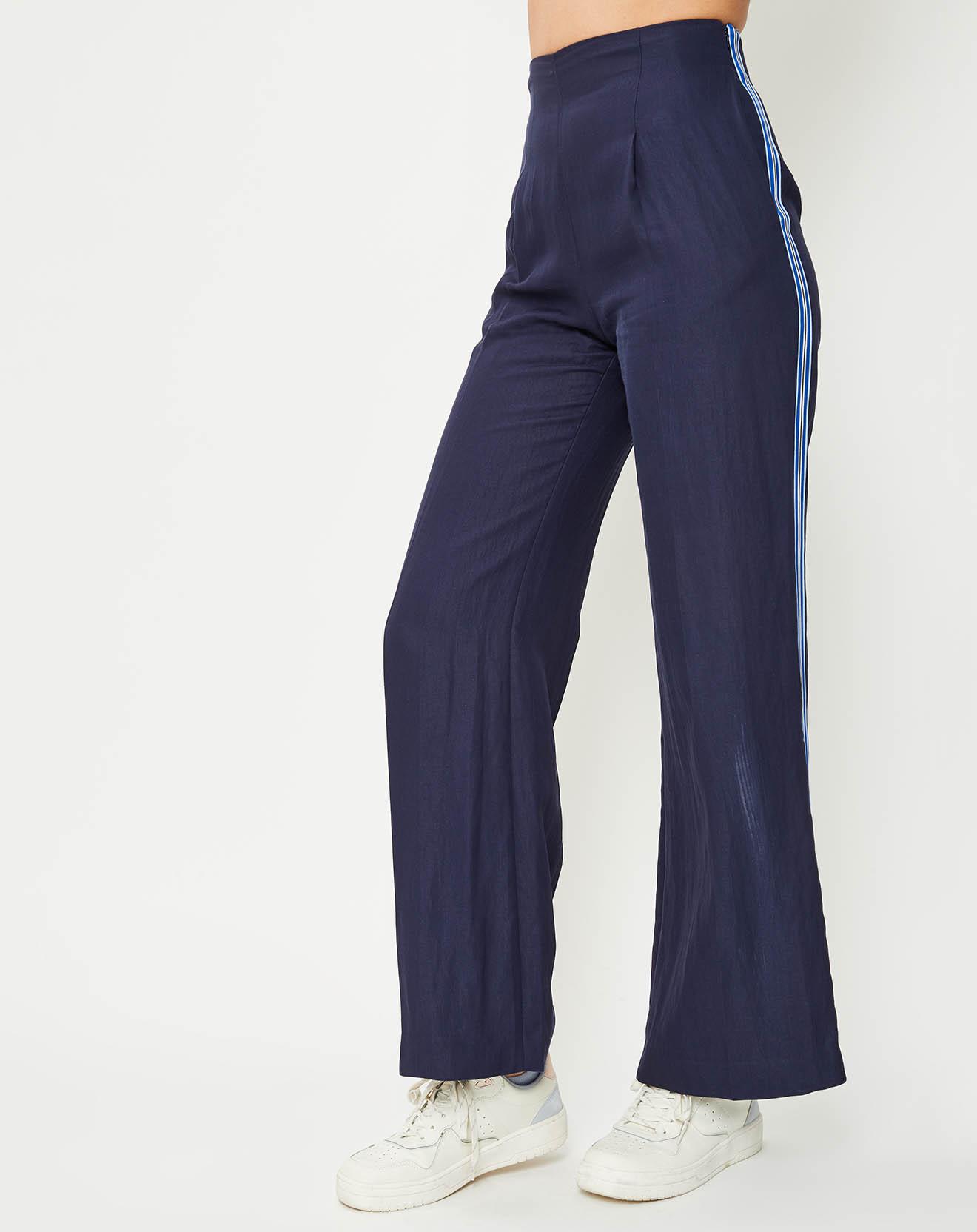 Pantalon long bande côté bleu marine - Paul Smith - Modalova