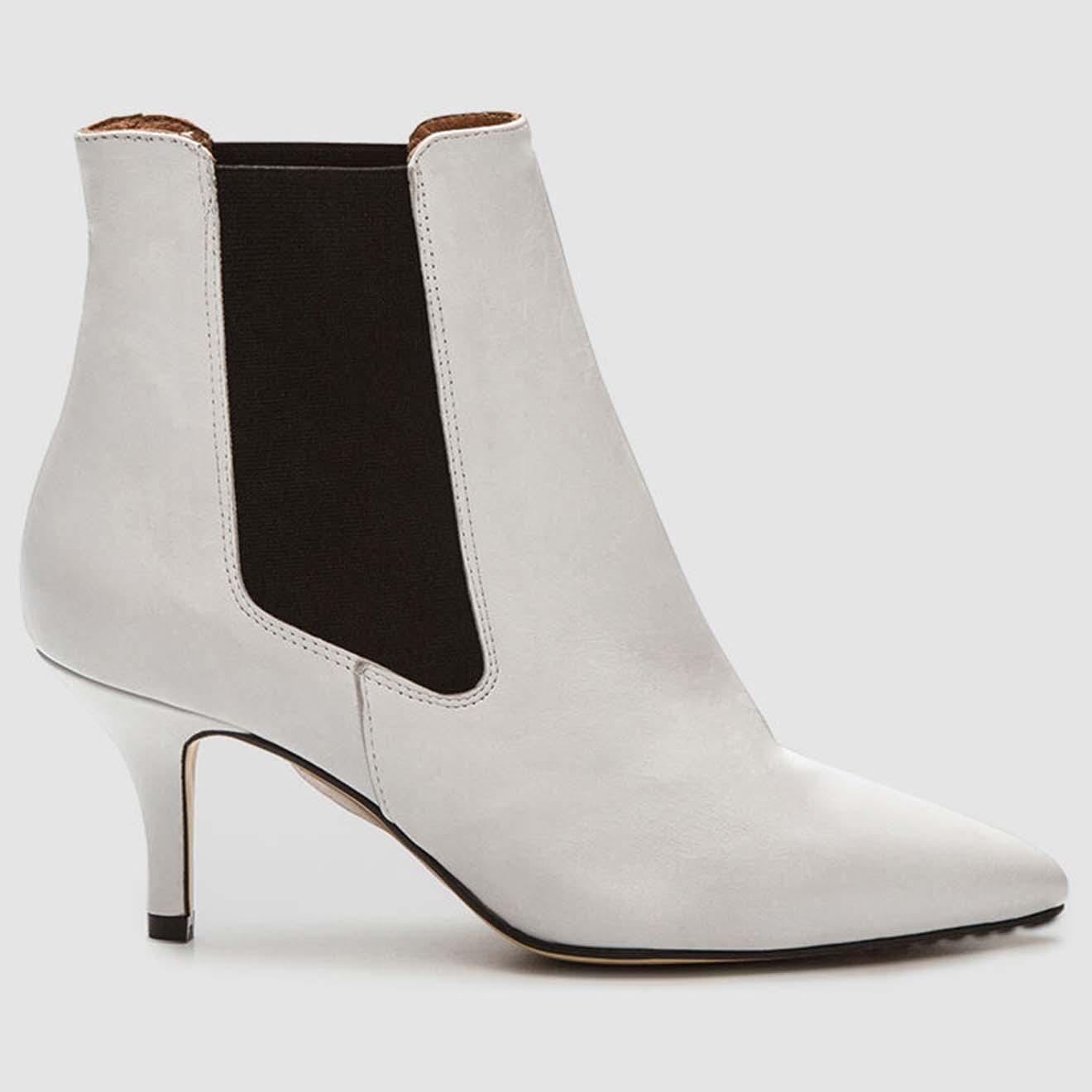Chelsea Boots en Cuir Memi blanches - Talon 6 cm - Cosmoparis - Modalova