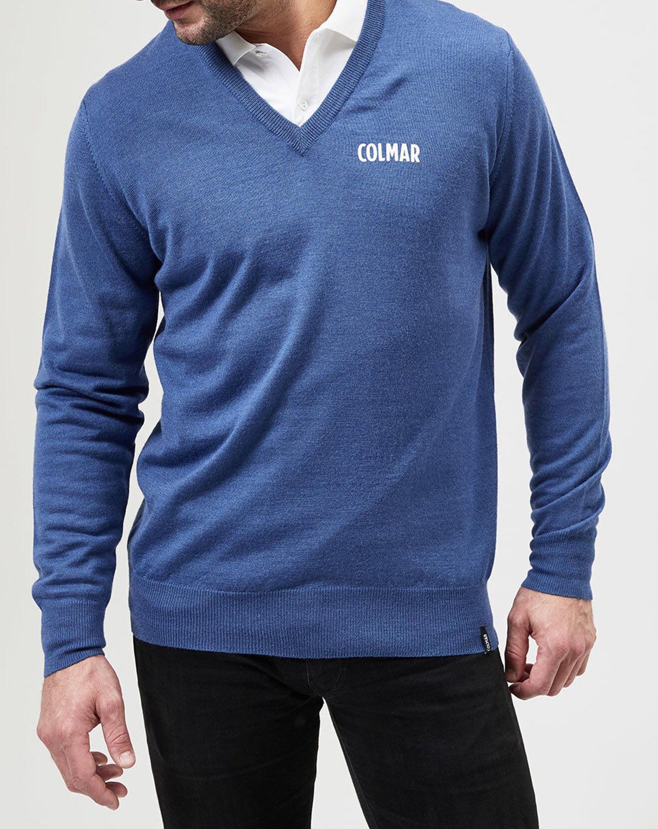 Pull en Laine mélangée Logo bleu - Colmar - Modalova