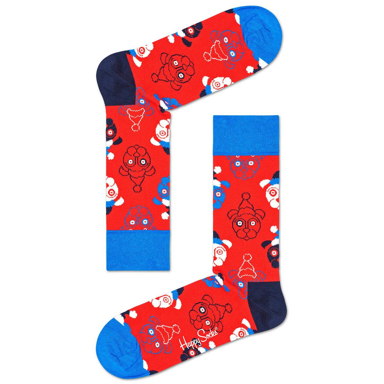 Chaussettes Santa Dog rouge/bleu/ - Happy socks - Modalova