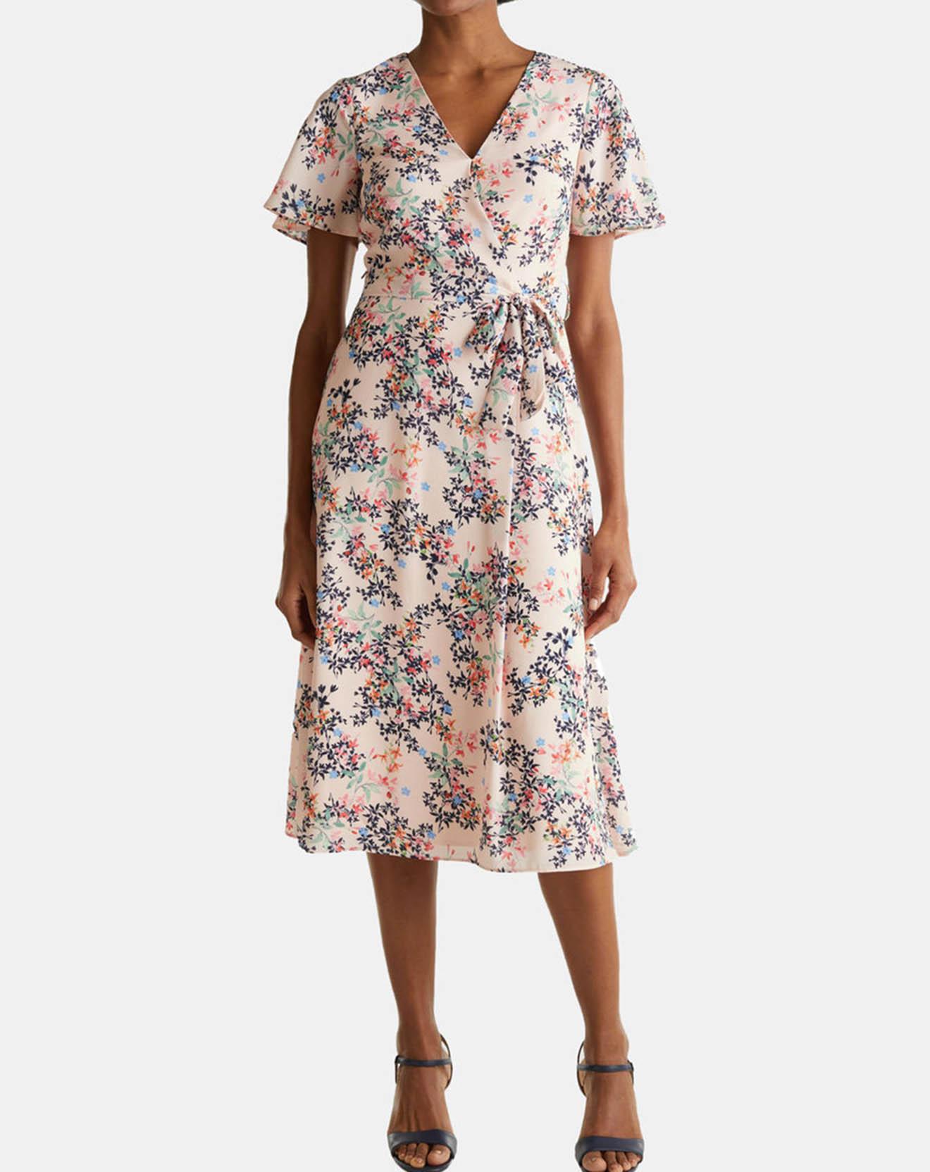 Robe imprimée fleuri rose pâle - Esprit - Modalova