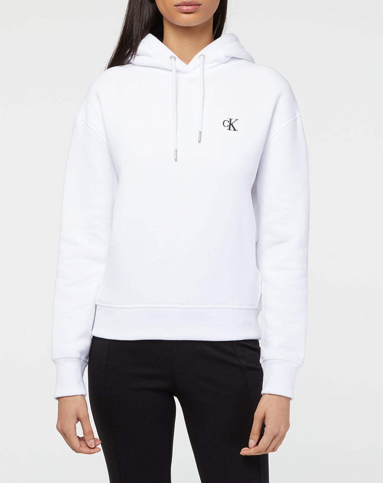 Sweat à capuche Petit Logo Ck - Calvin Klein - Modalova