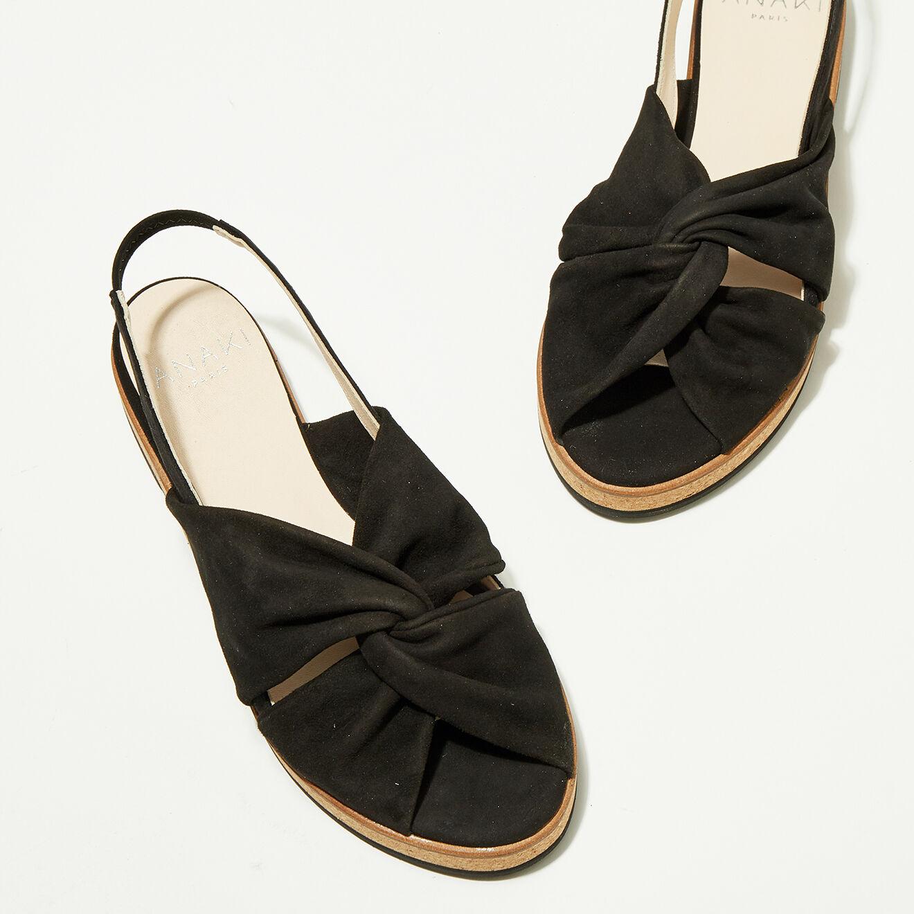 Sandales en Velours de Cuir Mismi noires - Anaki - Modalova