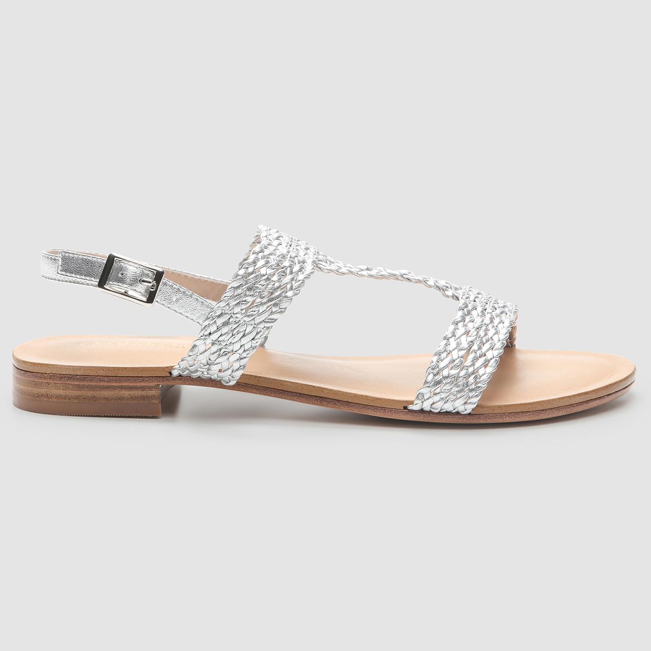 Sandales en Cuir Hadara argentées - Cosmoparis - Modalova