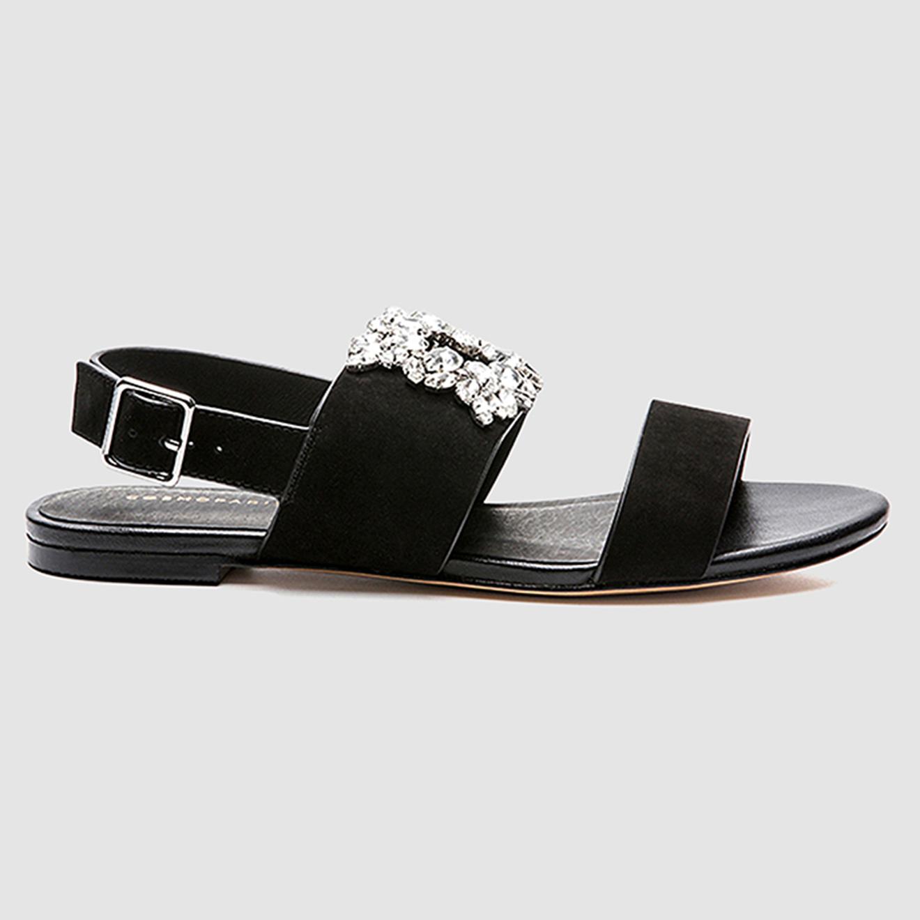 Sandales en Velours de Cuir Heidi noires - Cosmoparis - Modalova