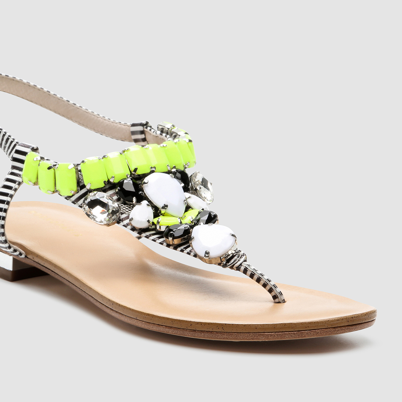 Sandales en Cuir Hania noir/jaune - Cosmoparis - Modalova