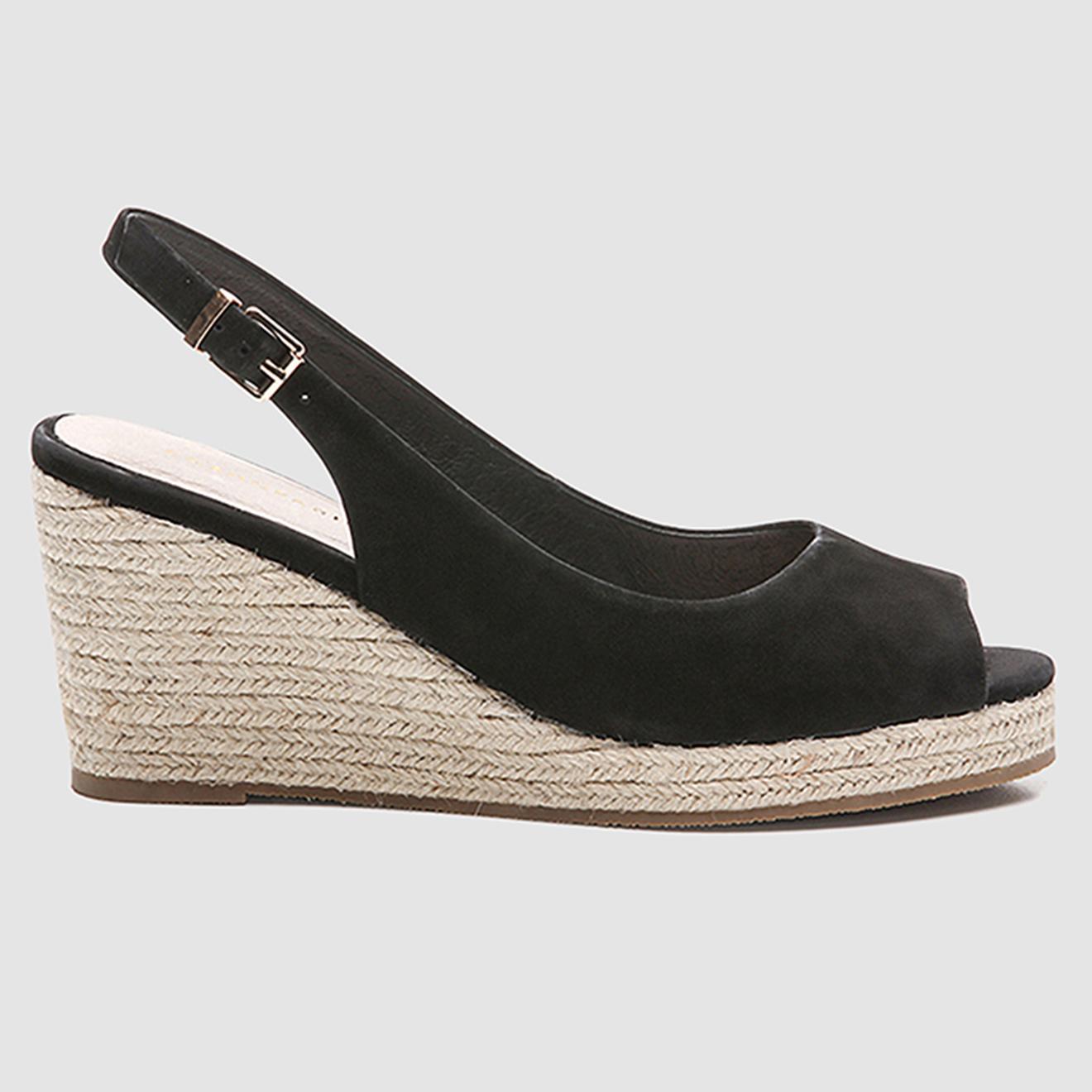 Sandales compensées en Velours de Cuir Himana - Talon 7 cm - Cosmoparis - Modalova