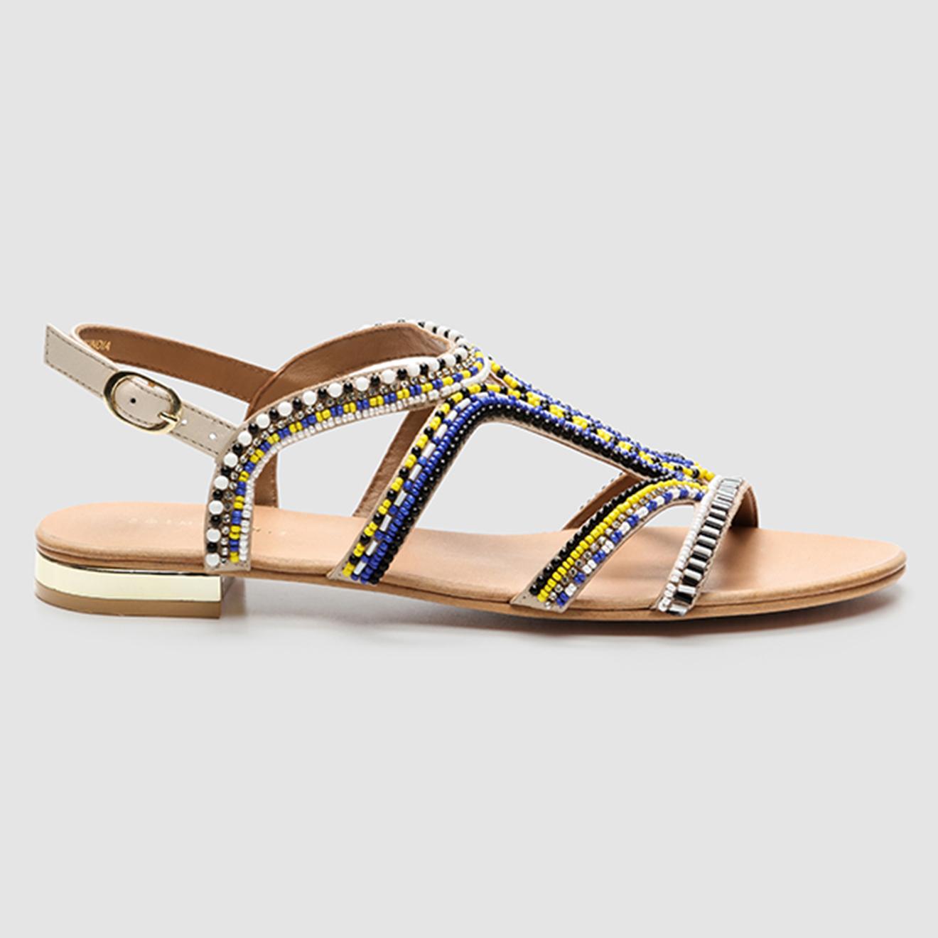 Sandales en Cuir Iba bleu/noir - Cosmoparis - Modalova