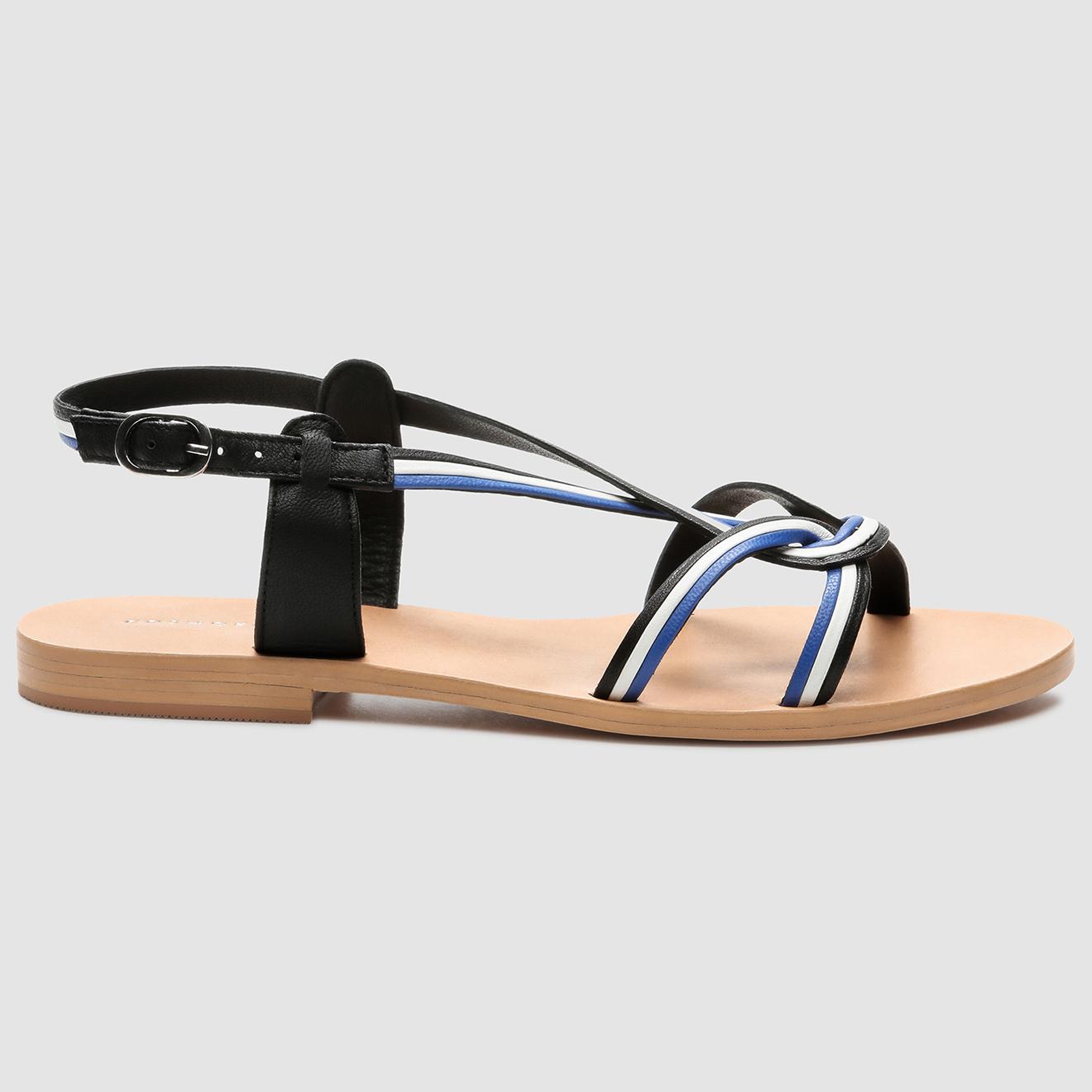 Sandales en Cuir Illao noir/cobalt - Cosmoparis - Modalova