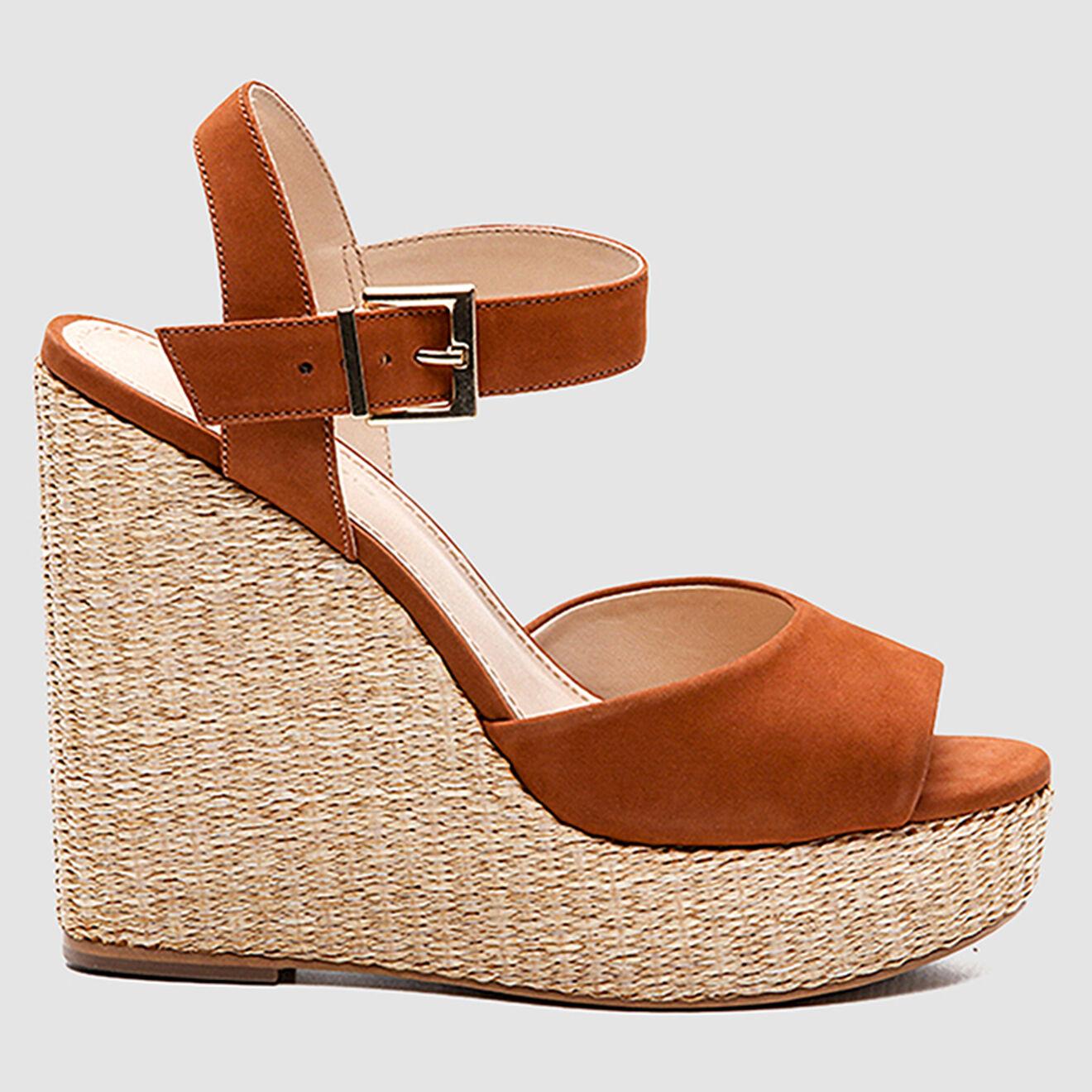 Sandales compensées en Velours de Cuir Jamea - Talon 12 cm - Cosmoparis - Modalova