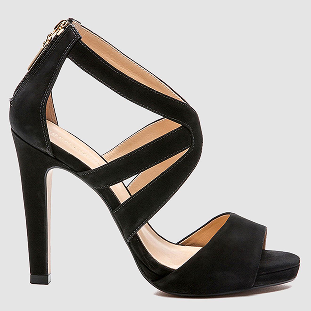 Sandales en Velours de Cuir Laelia - Talon 11 cm - Cosmoparis - Modalova