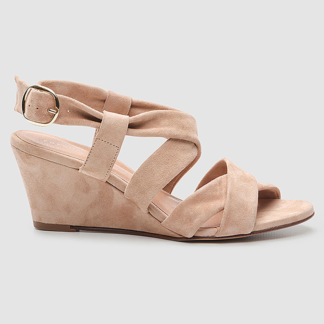 Sandales en Velours de Cuir Valiya - Talon 6 cm - Cosmoparis - Modalova