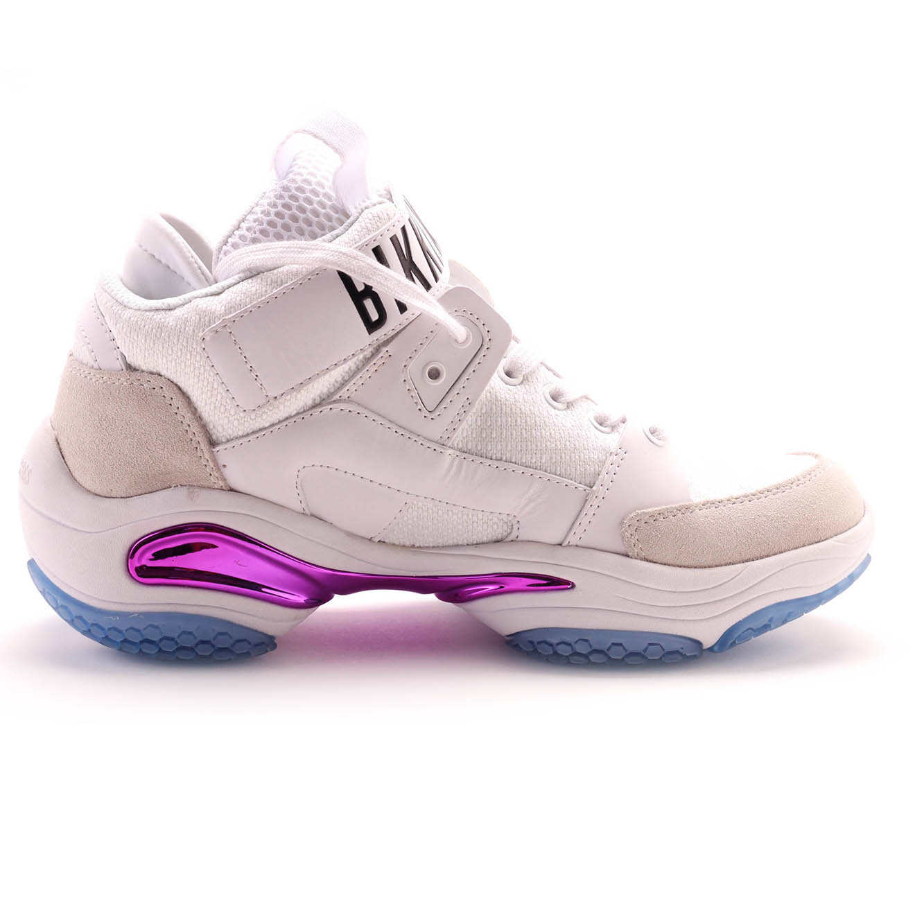 Sneakers montantes Platon en Cuir bleu/blanc/violet - Bikkembergs - Modalova