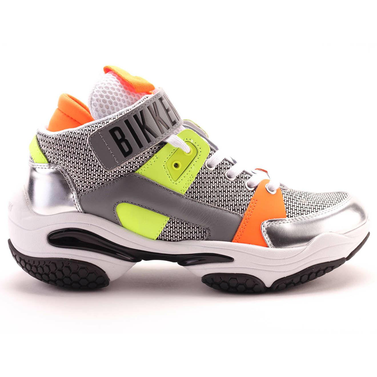 Sneakers montantes Platon en Cuir multicolore/argenté/orange - Bikkembergs - Modalova