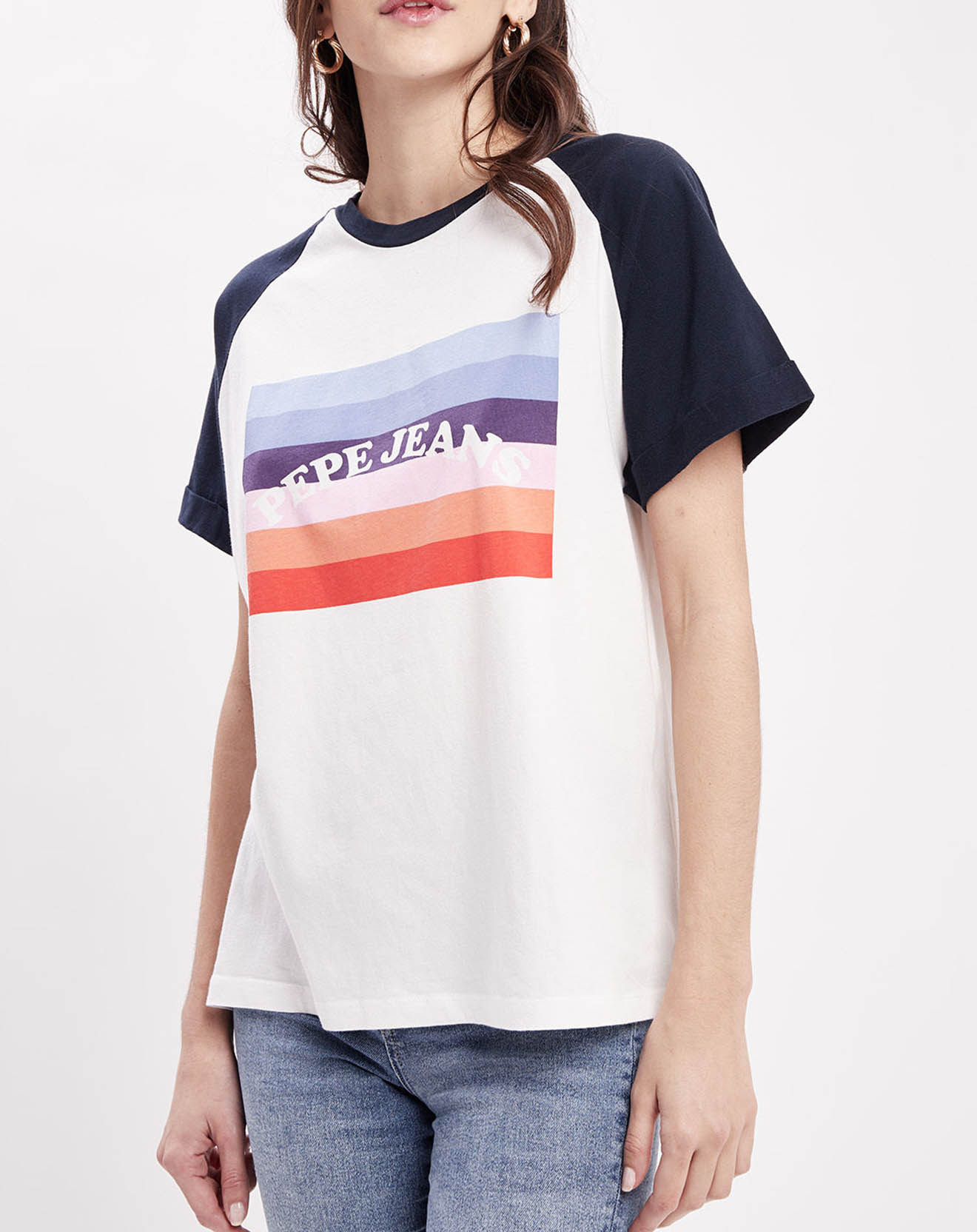 T-Shirt Angy blanc - Pepe Jeans - Modalova