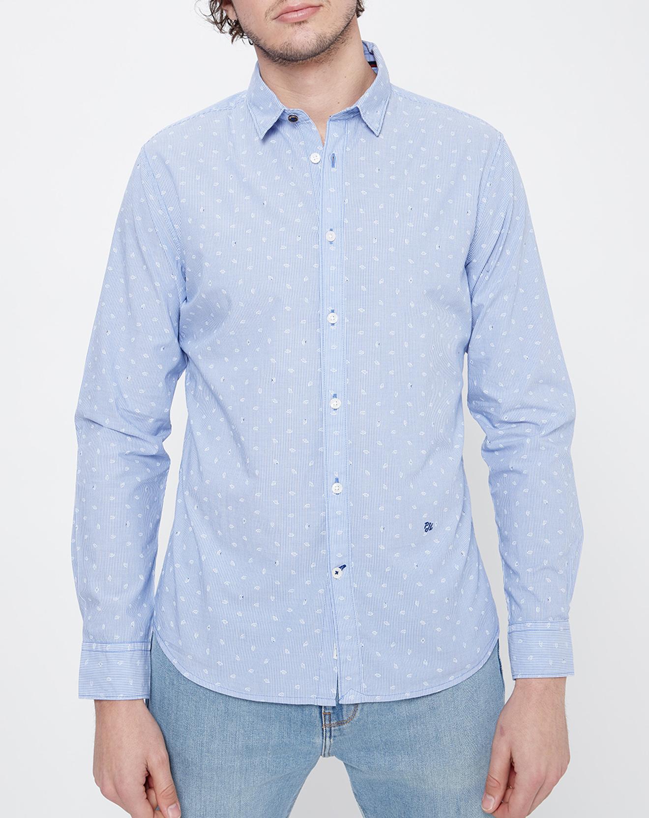 Chemise Slim fit Micro Lawson rayures & motif bleu clair/blanc - Pepe Jeans - Modalova