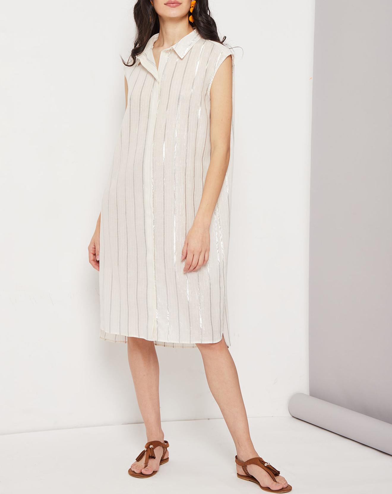 Robe Candice rayée blanc/argenté - Suncoo - Modalova