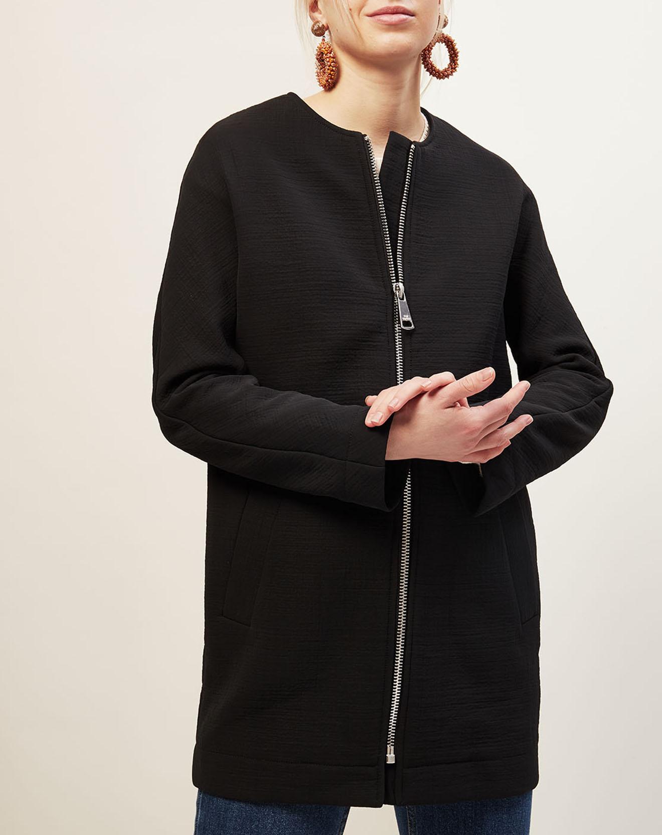 Manteau léger en Coton Asio mélangé noir - Cop Copine - Modalova