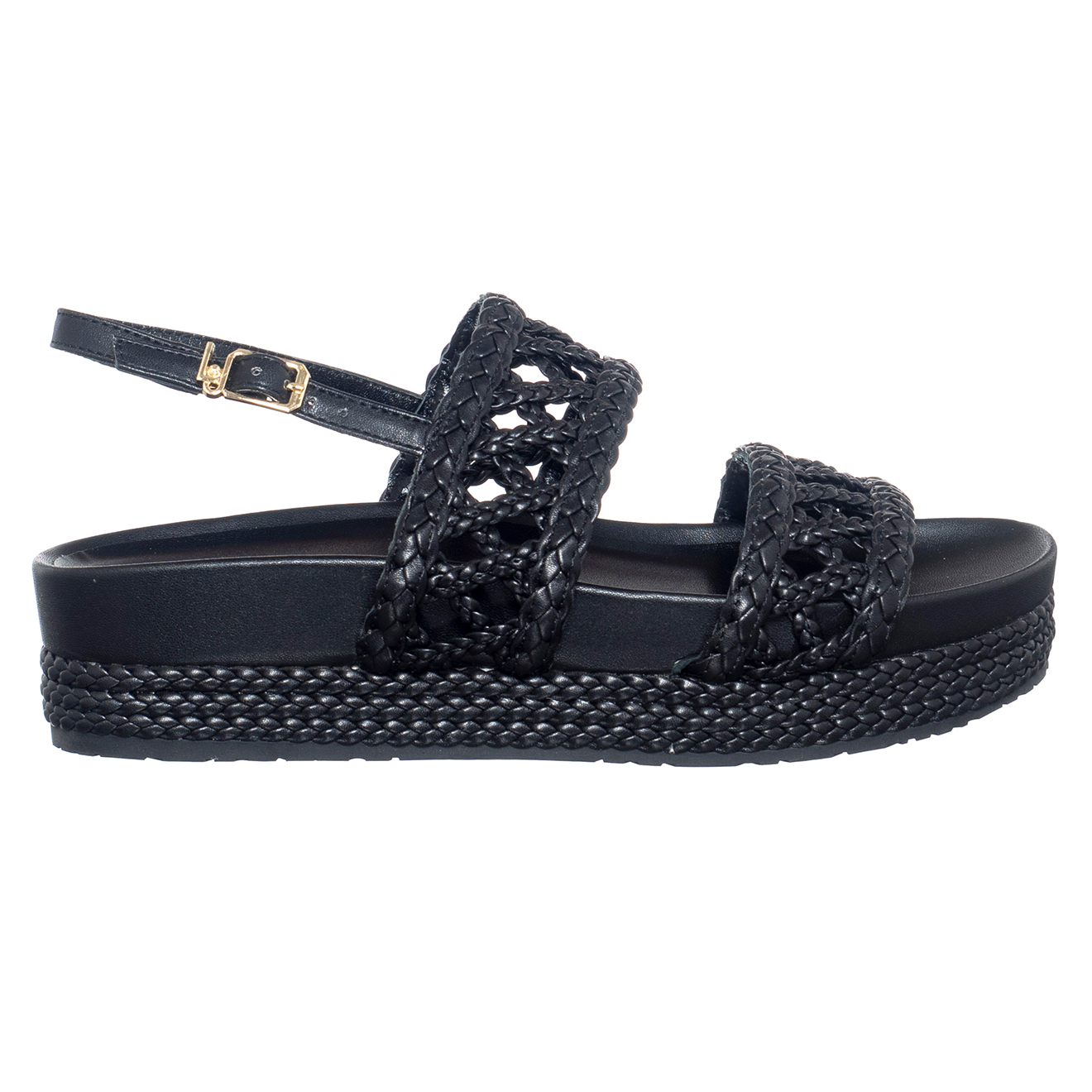 Sandales en Cuir Patty noires - Talon 4 cm - Liu-Jo - Modalova