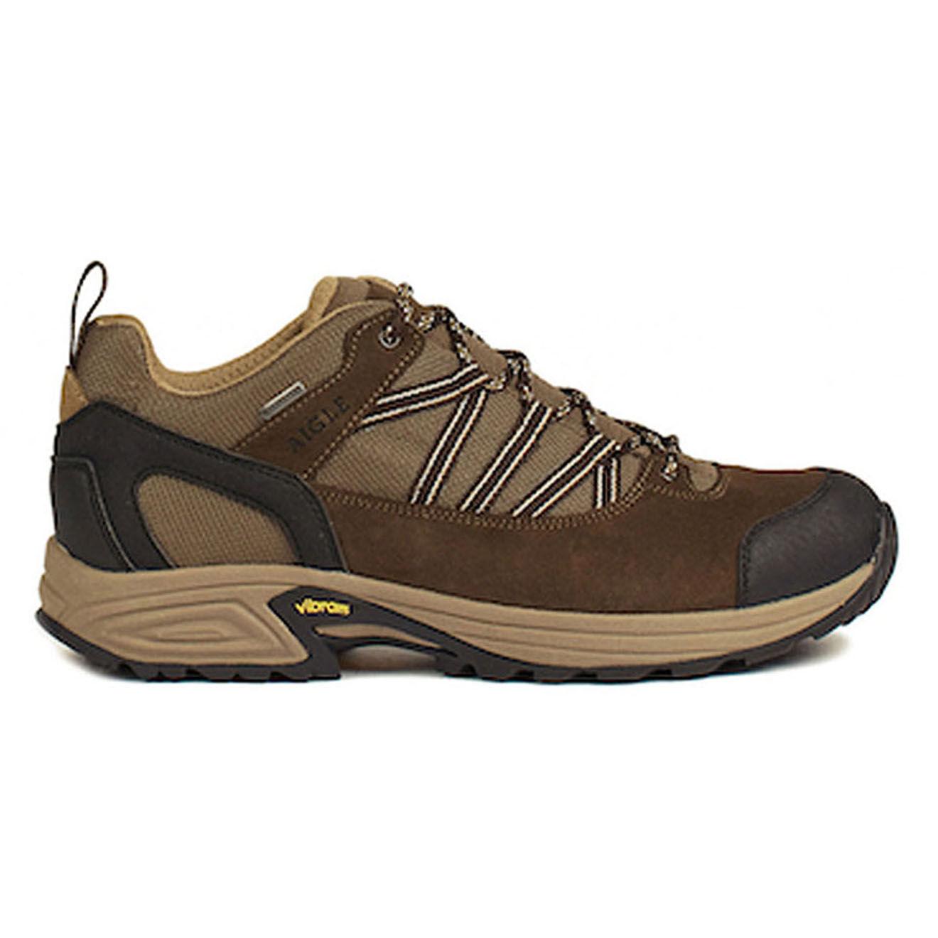 Chaussures basses en Cuir & Textile Mooven Low Gtx marron foncé/beige - Aigle - Modalova
