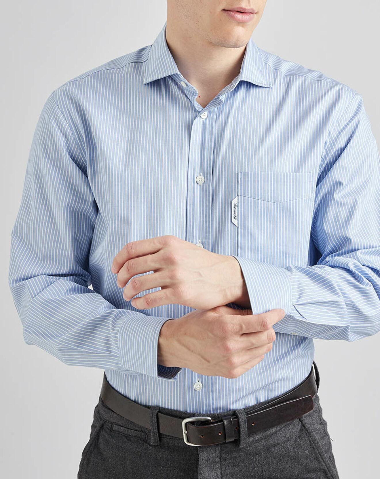 Chemise rayée bleu clair - Façonnable - Modalova