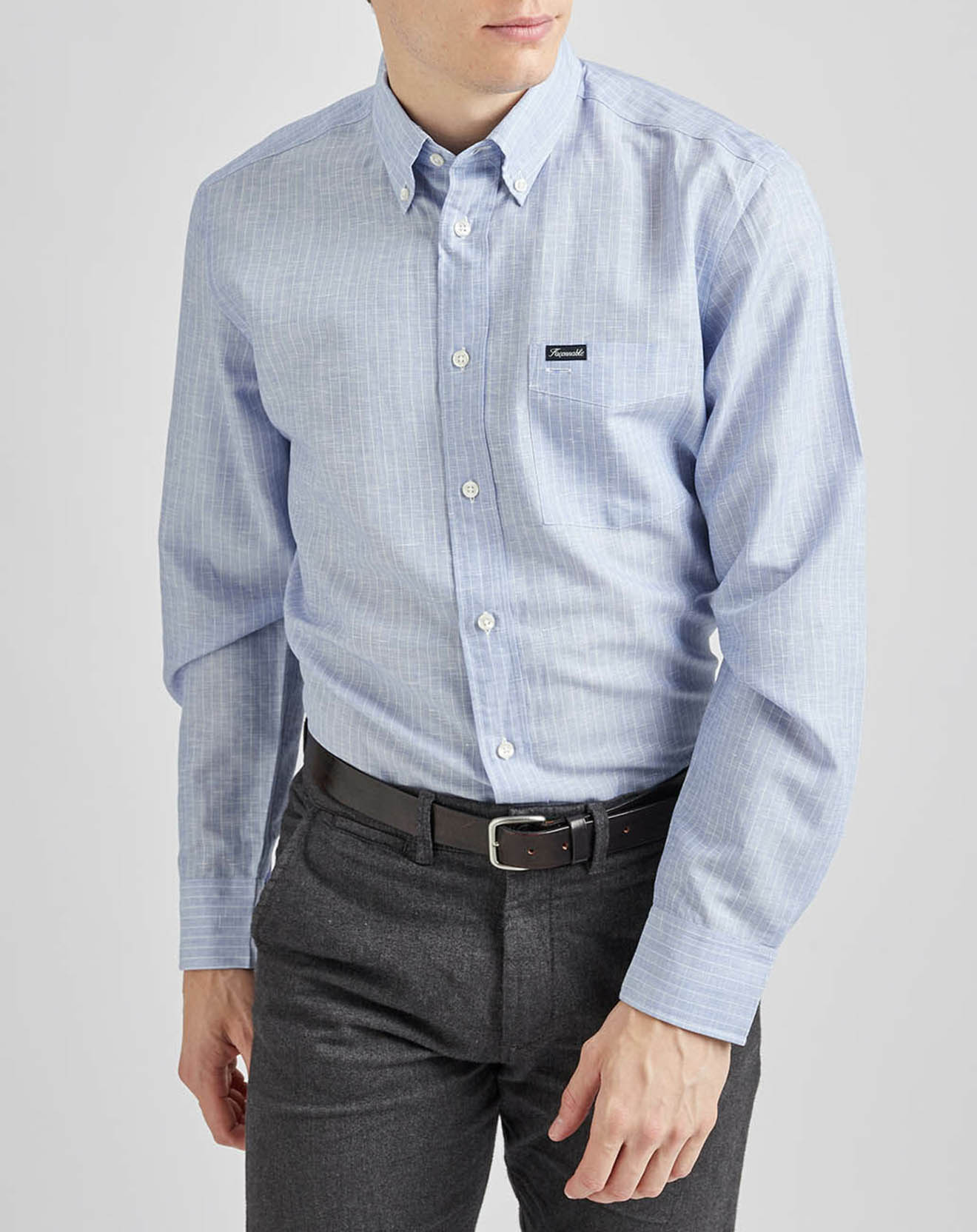 Chemise sportswear bleu jeans - Façonnable - Modalova
