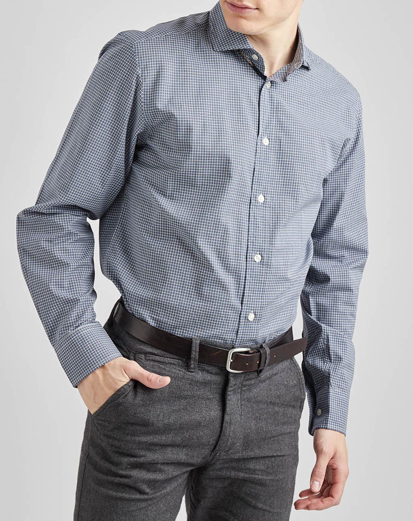 Chemise sportswear carreaux bleue - Façonnable - Modalova