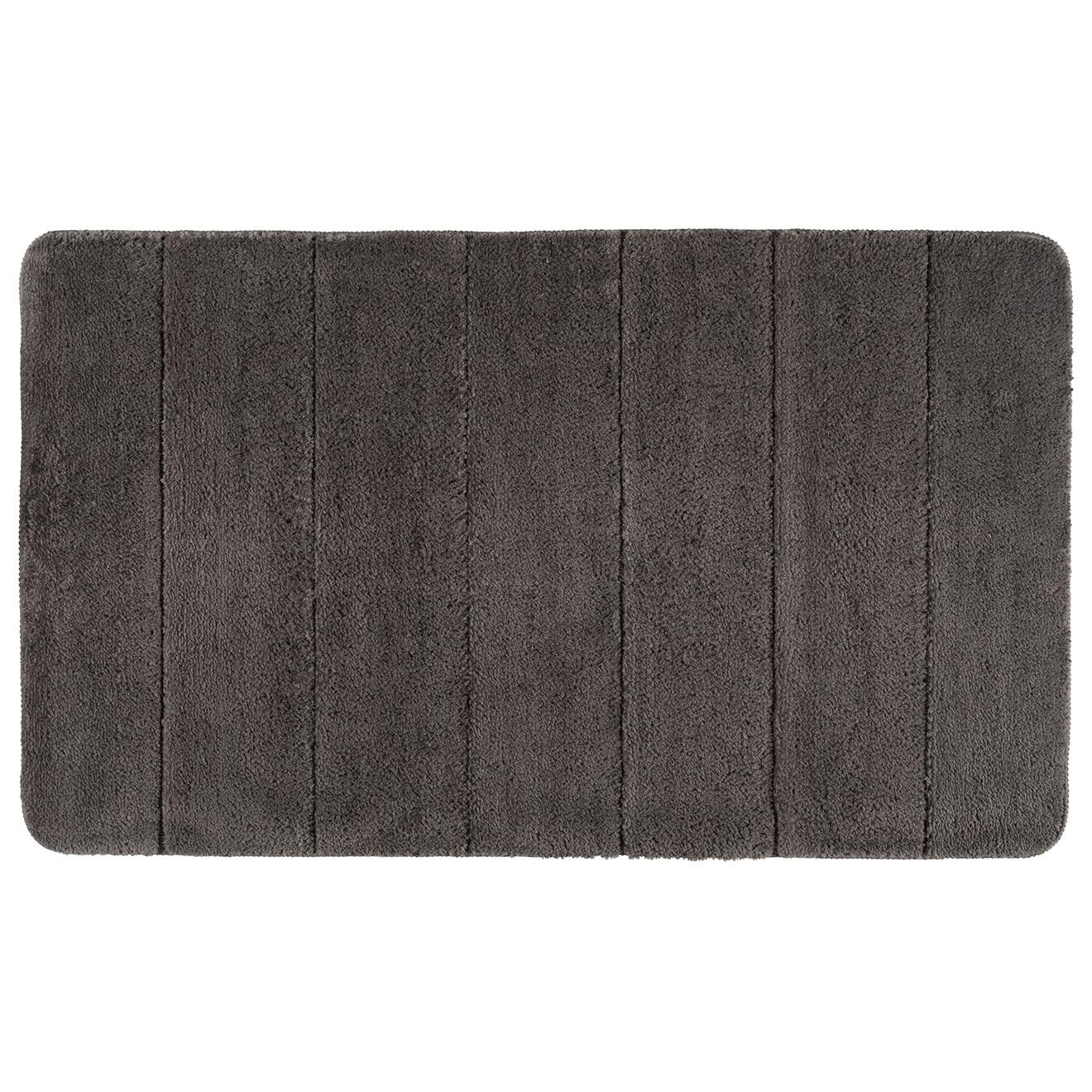 Tapis de bain Steps gris - 70x120 cm