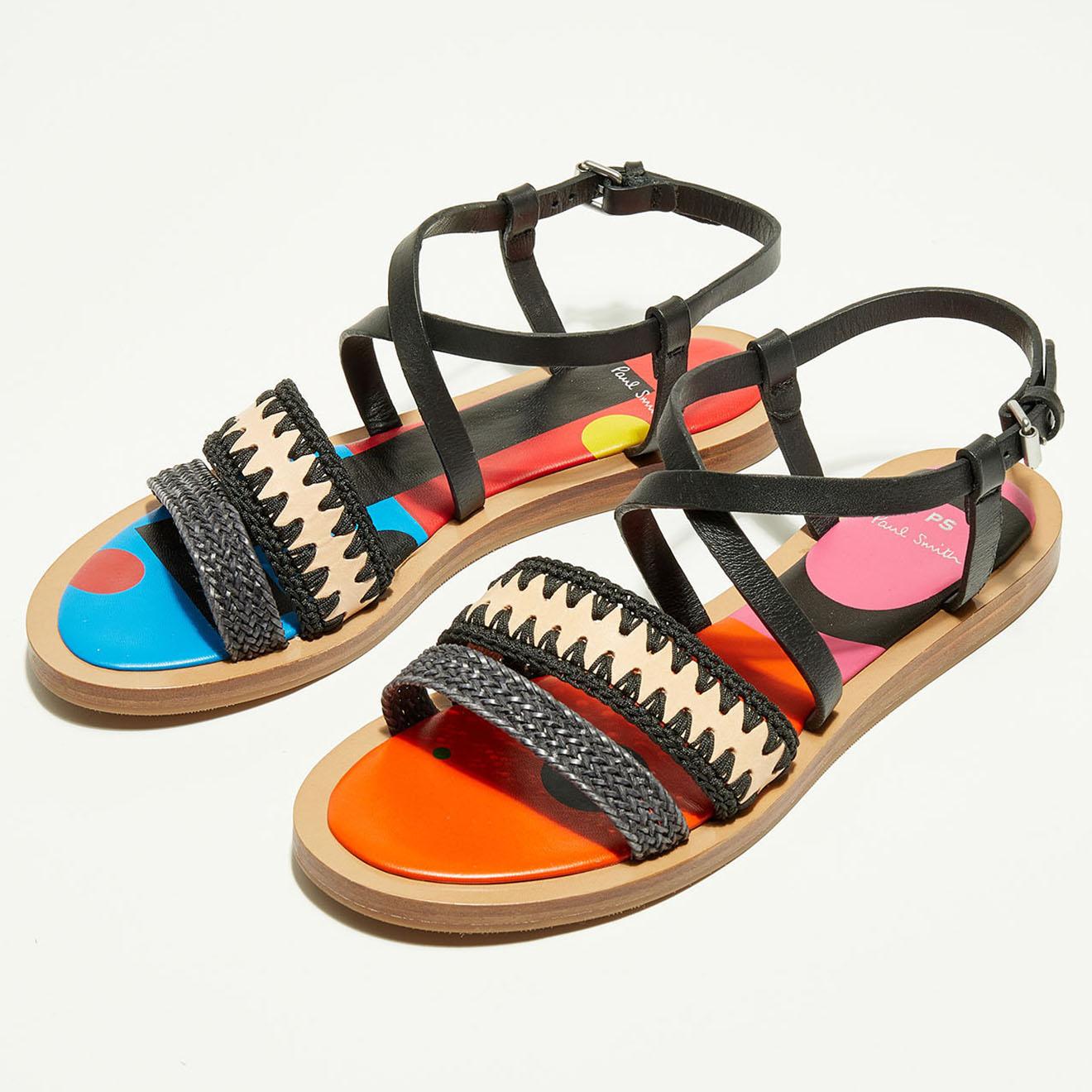 Sandales en Cuir Eunice noir/multicolore - Paul Smith - Modalova