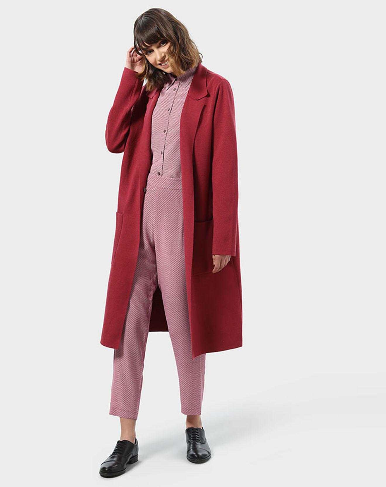 Pantalon 100% Soie Line rose - Stefanel - Modalova